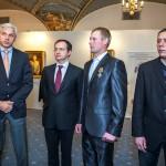 А. Алекаев, В. Мединский и георгиевские кавалеры Н. Ревин и А. Крупчатников
